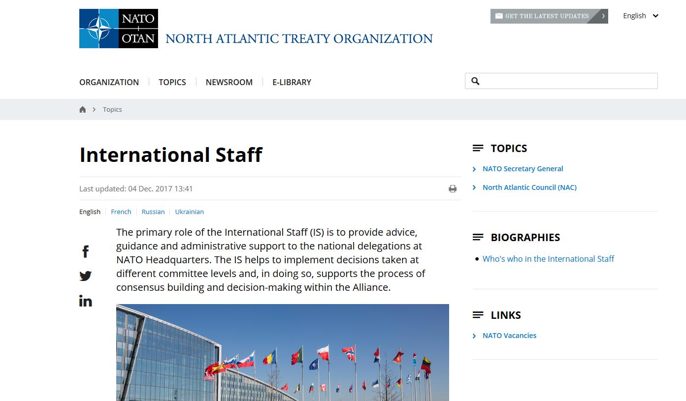 NATO International Staff